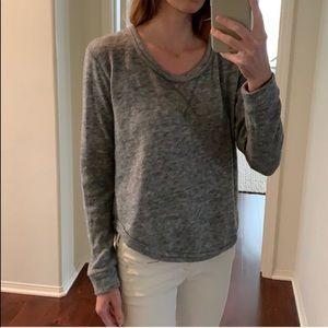 Obey scoop neck sweater heather grey